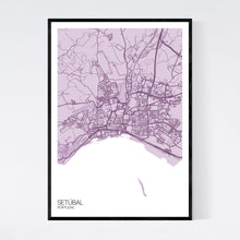 Load image into Gallery viewer, Setúbal City Map Print