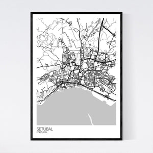 Setúbal City Map Print