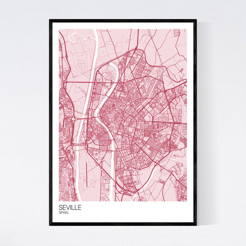 Map of Seville, Spain