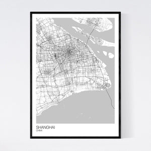 Shanghai City Map Print