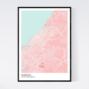Sharjah City Map Print