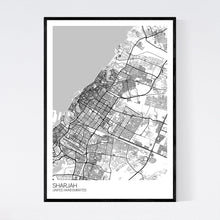 Load image into Gallery viewer, Sharjah City Map Print