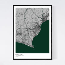 Load image into Gallery viewer, Shizuoka City Map Print