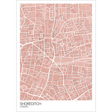 Load image into Gallery viewer, Map of Shoreditch, London