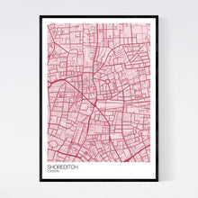 Load image into Gallery viewer, Shoreditch Neighbourhood Map Print