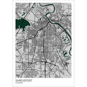 Map of Shreveport, Louisiana