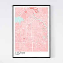 Load image into Gallery viewer, Shreveport City Map Print