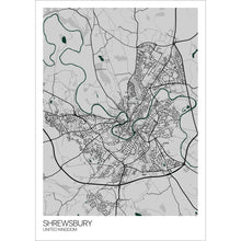 Load image into Gallery viewer, Map of Shrewsbury, United Kingdom