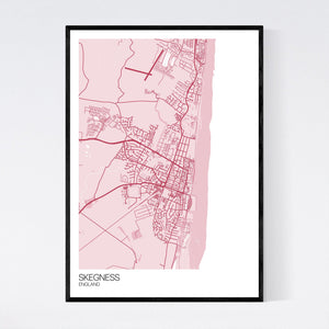 Skegness Town Map Print