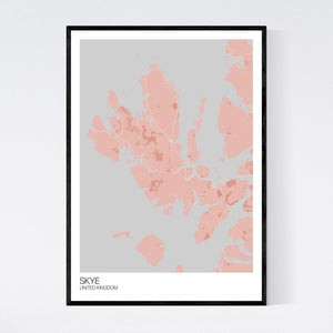 Map of Skye, United Kingdom