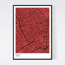 Load image into Gallery viewer, Soho Neighbourhood Map Print
