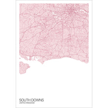 Load image into Gallery viewer, Map of South Downs, United Kingdom