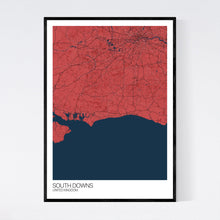 Load image into Gallery viewer, South Downs Region Map Print