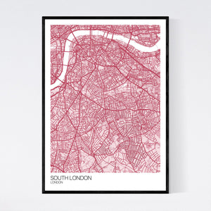 Map of South London, London
