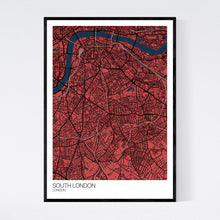 Load image into Gallery viewer, South London Neighbourhood Map Print