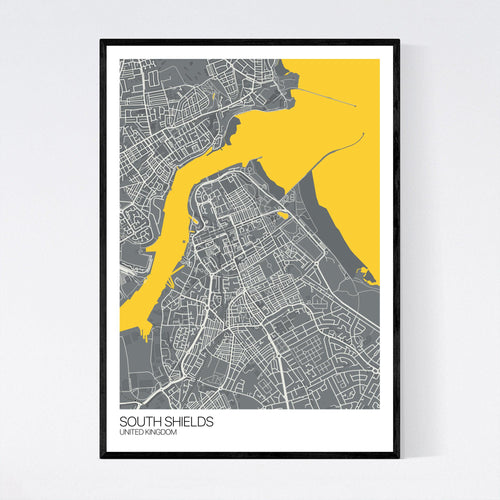 Map of South Shields, United Kingdom