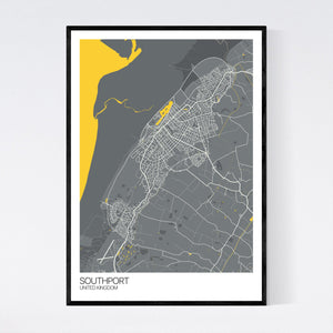 Southport City Map Print
