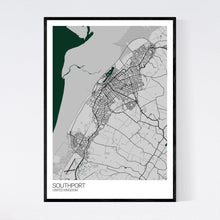Load image into Gallery viewer, Southport City Map Print