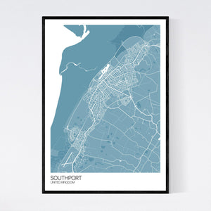 Map of Southport, United Kingdom