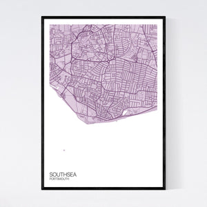 Map of Southsea, Portsmouth