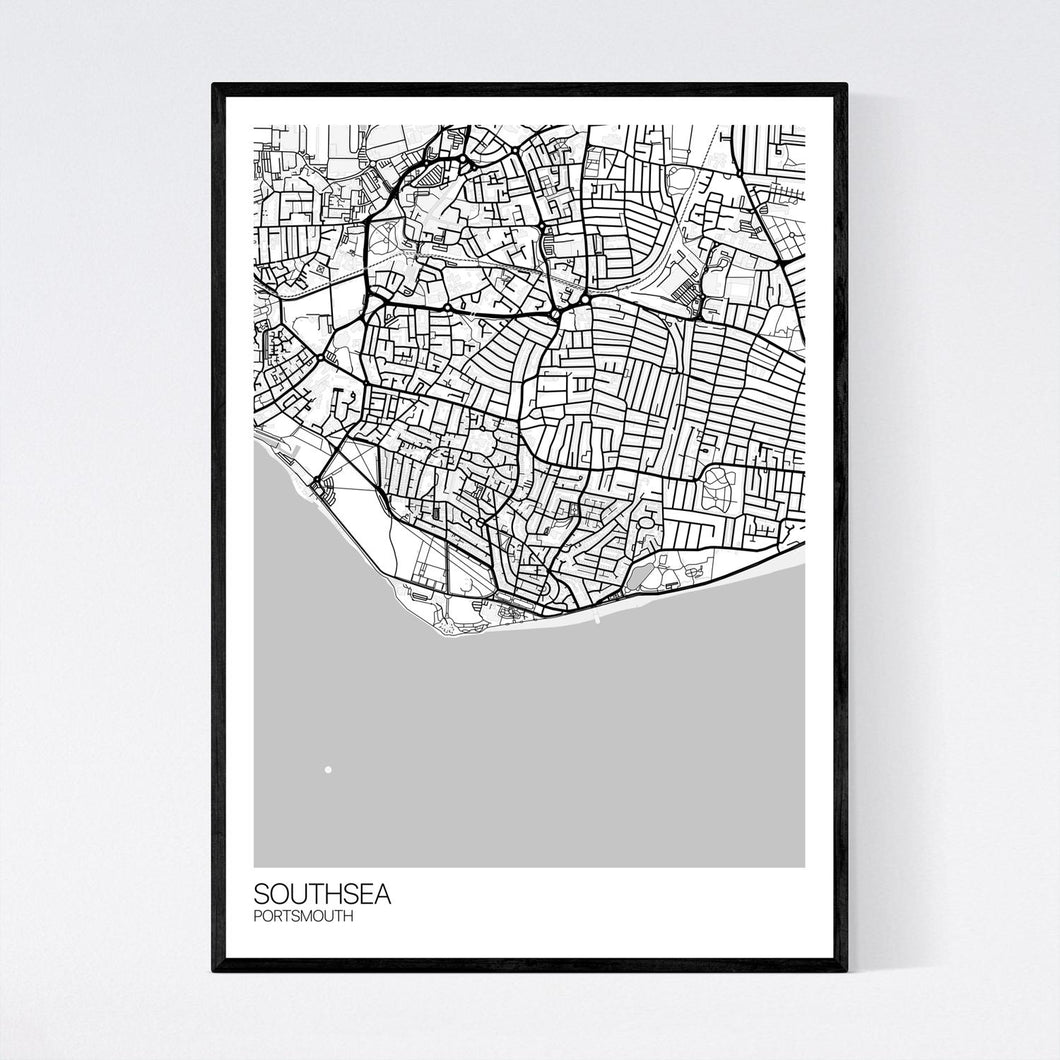 Southsea Town Map Print