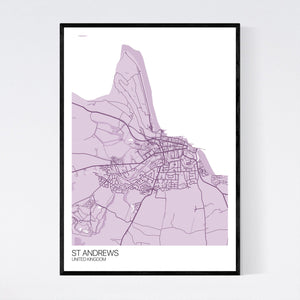 St Andrews City Map Print