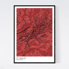 Load image into Gallery viewer, St. Gallen City Map Print