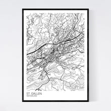 Load image into Gallery viewer, Map of St. Gallen, Switzerland