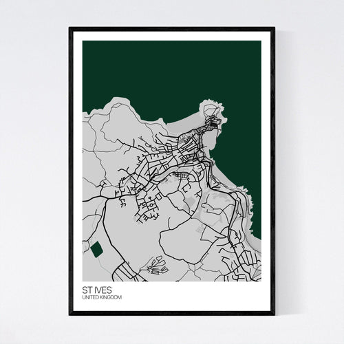Map of St Ives, United Kingdom