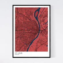 Load image into Gallery viewer, St. Louis City Map Print
