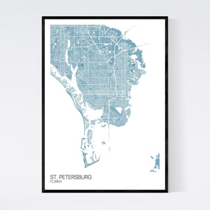 St. Petersburg City Map Print