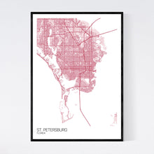 Load image into Gallery viewer, St. Petersburg City Map Print
