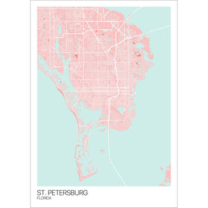 Map of St. Petersburg, Florida