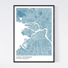 Load image into Gallery viewer, Map of St. Petersburg, Russia