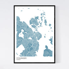 Load image into Gallery viewer, Stavanger City Map Print