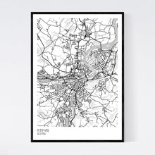 Load image into Gallery viewer, Steyr City Map Print