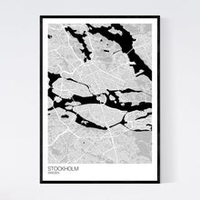 Load image into Gallery viewer, Stockholm City Map Print