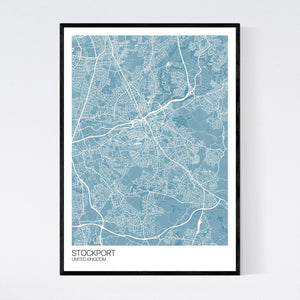 Map of Stockport, United Kingdom