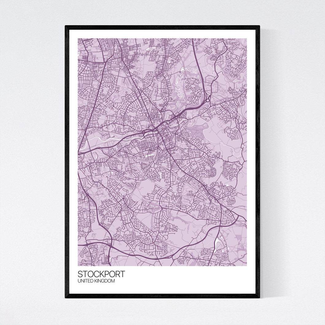 Stockport City Map Print