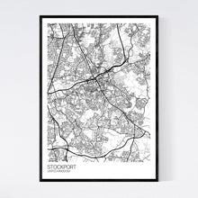 Load image into Gallery viewer, Stockport City Map Print