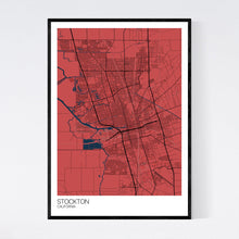 Load image into Gallery viewer, Stockton City Map Print