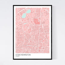 Load image into Gallery viewer, Map of Stoke Newington, London