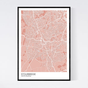 Stourbridge City Map Print