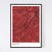 Load image into Gallery viewer, Stuttgart City Map Print