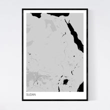 Load image into Gallery viewer, Sudan Country Map Print
