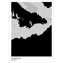 Load image into Gallery viewer, Map of Sumbawa, Indonesia
