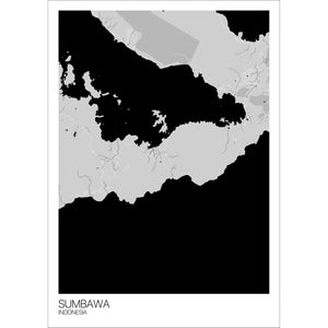 Map of Sumbawa, Indonesia