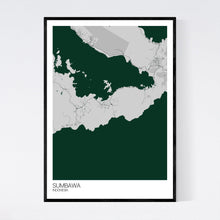 Load image into Gallery viewer, Sumbawa Island Map Print