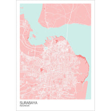 Load image into Gallery viewer, Map of Surabaya, Indonesia