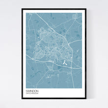 Load image into Gallery viewer, Swindon City Map Print
